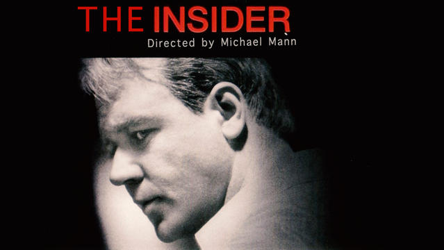 a report on the insider by michael mann The insider (1999) the insider inverts the usual michael mann formula, in that its story is about two noble lone wolves being hunted by.